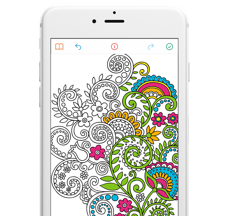 Touch Screen Friendly Coloring Experience